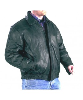 Patch Leather Jacket  & Covered Zip - Massive Reductions!!