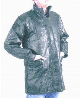 *Three Quarter Length Patch Leather Jacket  - Massive Reductions!- WHILE STOCKS LAST!!!!!!!!!!!!!!