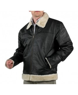 Full Leather Jacket  with Faux Fur Collar & Cuffs - Massive Reductions!!