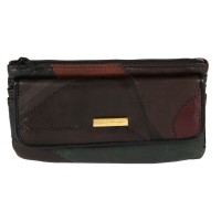 Lorenz Economy Patchwork Matinee Purse with Flap & Back Zip