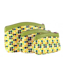 Set of Three Cosmetic Bags