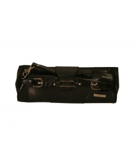 Lorenz Lizard Grain PVC Flap Over Clutch Bag with Buckle Feature - - Bargain price!!