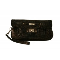 Lorenz Croc Gran PVC Flap Over Clutch Bag with Twist Lock - SPECIAL OFFER!