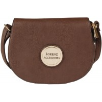 Lorenz Accessories Faux Leather Flapover X-Body Bag