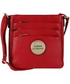 Lorenz Accessories Faux Leather Top Zip X-Body Bag -PRICE DROP!!