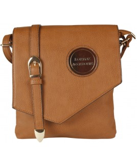 Lorenz Accessories Faux Leather Flapover X-Body Bag with Decorative Buckle -PRICE DROP!!