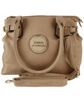 Lorenz Accessories Faux Leather Triple Top Zip Bag PRICE DROP!!