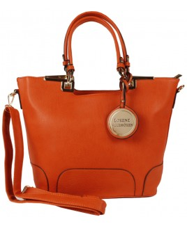 Lorenz Accessories Faux Leather Top Zip Tote-NEW BARGAIN PRICE!!