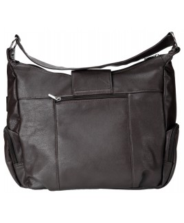 Lorenz Large Leather Grain PU Tote Bag with Back & Side Pockets