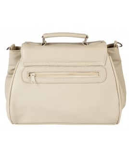 Lorenz Leather Grain PU Flapover Bag with Triple Top Zips- HUGE PRICE DROP!