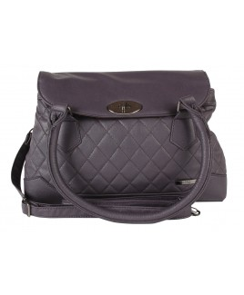 Lorenz Leather Grain PU Quilt Stitch Handbag with Twin Top Zip- HUGE REDUCTIONS !!