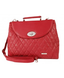Lorenz Leather Grain PU Quilt Stitch Handbag with Adjustable/Detachable Shoulder Strap- BIG PRICE DROP!!