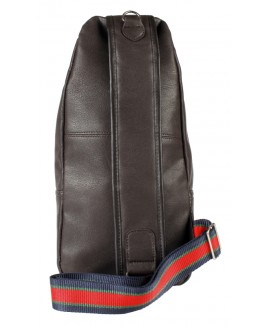 Lorenz Leather Grain PU Tall X-Body Backpack with Top & Front Zips & Front Pocket - FURTHER REDUCTIONS!!