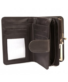 Lorenz Leather Grain PU 14cm Purse Wallet with Zip Round-NEW LOW LOW PRICE !