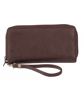 Lorenz Leather Grain PU Long Twin Zip Round Purse- PRICE REDUCTION!