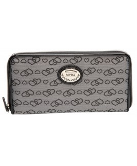Long Textile Zip Round Purse with Inner Zip & Credit Card Slots-NEW LOW PRICE