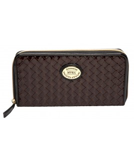 Long PU Zip Round Purse with Inner Zip & Credit Card Slots- PRICE REDUCTION !