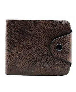 Grained and Patterned PU Wallet with Credit Card Slots & Tab