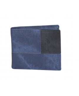 Contrast Panel PU Bifold Notecase in a 3 Panel Pattern