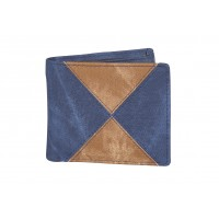 Contrast Panel PU Bifold Notecase in a 4 Panel Pattern