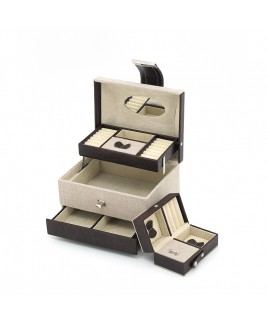Jewellery Case with Auto-Motion Drawers & separate Travel Case