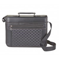 Large X-Body Flapover Unisex Laptop/Tablet Bag wth Top Zip, Top Handle and Zips