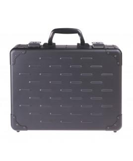 Large SOLID Aluminium, Black Briefcase.