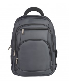 Lorenz Large Nylon Business Backpack with Laptop Section and 4 Zip Pockets- New lower price!!