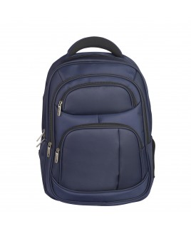 Lorenz Large Nylon Business Backpack with Laptop Section and 4 Zip Pockets - New lower price!!