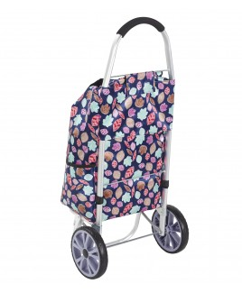 Lorenz 2 Wheel Shopping Trolley with Back Pocket & Zip