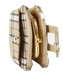 Lorenz Check Print Double Zip & Frame Purse - NEW LOWER PRICE !