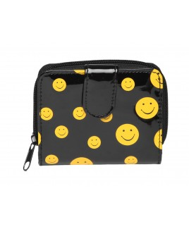 *Lorenz Smiley Patent PVC Zip Round Purse with Front Tab - NEW LOWER PRICE !