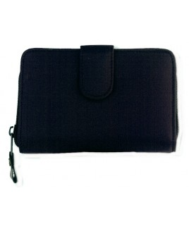 Micro Fibre Zip Round Purse Wallet  with Inside Swing Section- lower price !