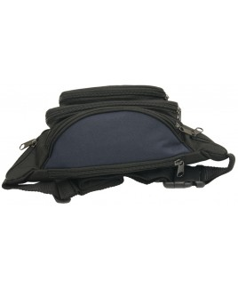 Lorenz Polyester Bumbag with 7 Zips and 2 Front Pouches