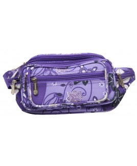 Brightly Coloured MultiZip Bumbag with 7 Zips
