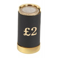 Leather Covered £2 Coin Holder
