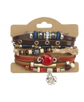 Leather Bracelet with a Little Bit of Everything