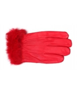 Ladies Sheep Nappa Glove with Fur Trim- REDUCED!