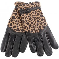 Ladies Sheep Nappa & Animal Print Glove