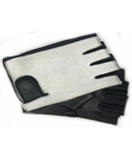 Gents String Back Leather Fingerless Driving Gloves velcro-type Fastening-MASSIVE PRICE DROP !