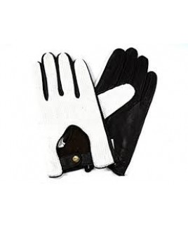 Gents String Back Leather Driving Gloves Press Stud Fastening- BARGAIN PRICE !