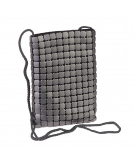 Slim Evening Bag with Top Zip and Large Mesh Design-- FURTHER REDUCTIONS!!
