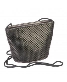 Mesh Evening Bag with Top Zip