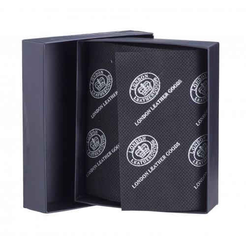 Black London Leathergoods Wallet Gift Box