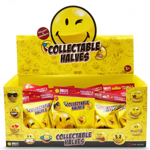 BRAND NEW SMILEY-Halves Full POS Box/CDU (20 Blind Bags)