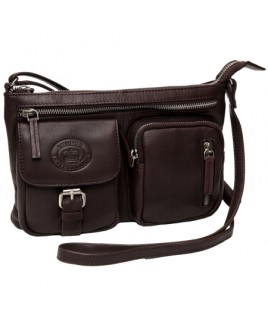 London Leathergoods Smooth Cow Nappa X-Body Bag