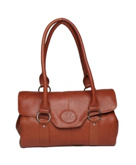 London Leathergoods Smooth Cow Nappa Twin Handle Bag