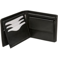 London Leathergoods Cow Nappa Twin Section Notecase. Non-RFID - 30% Discount!!