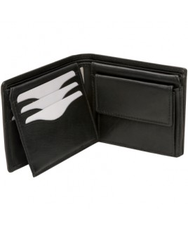 London Leathergoods Cow Nappa Twin Section RFID Proof Notecase- Price Drop !