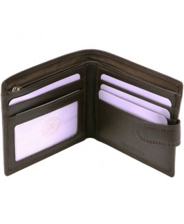London Leathergoods Cow Nappa RFID Proof Notecase with Zip